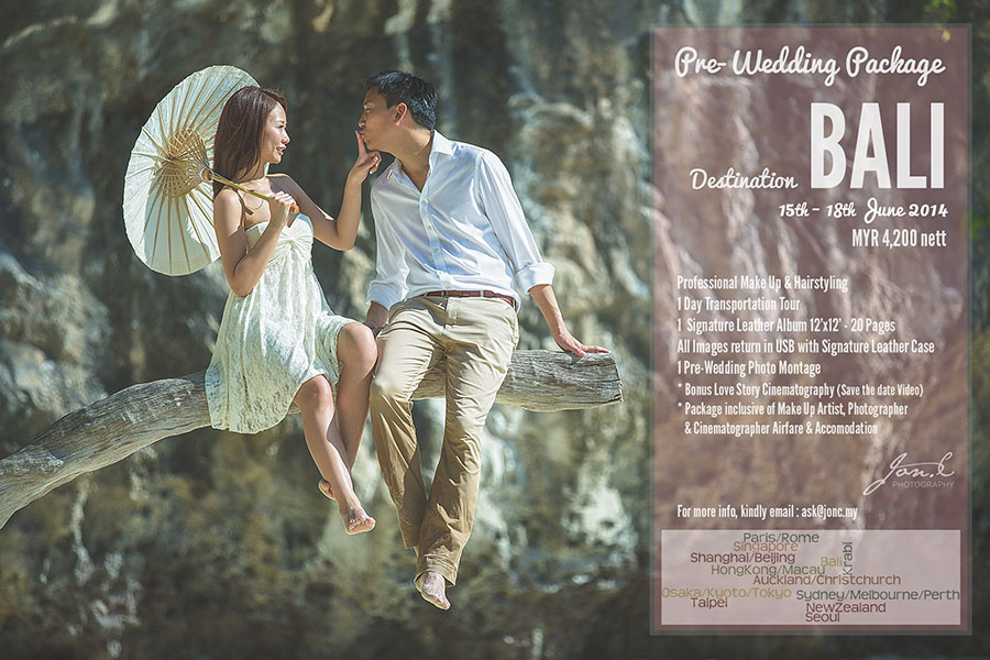 Pre-Wedding at Bali with Jon. C Photography (15th – 18th June 2014)